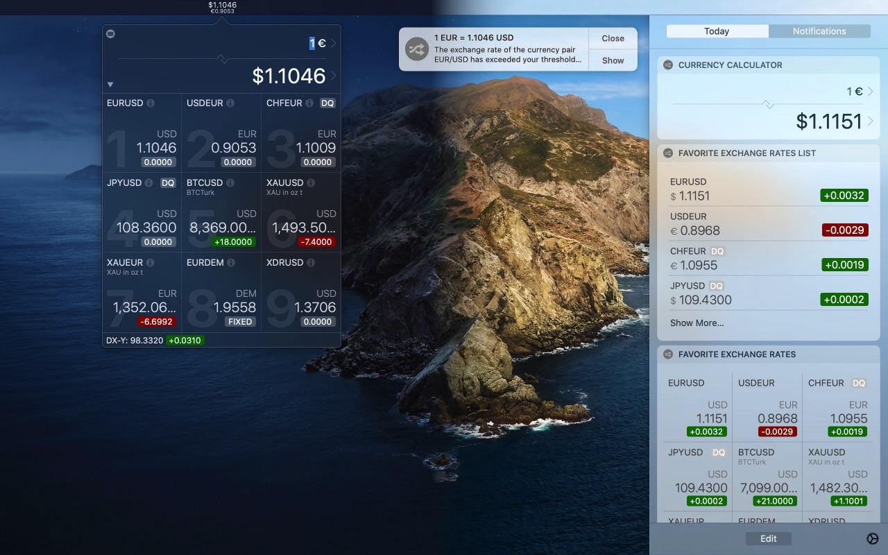 cryptocurrency exchange rates api c